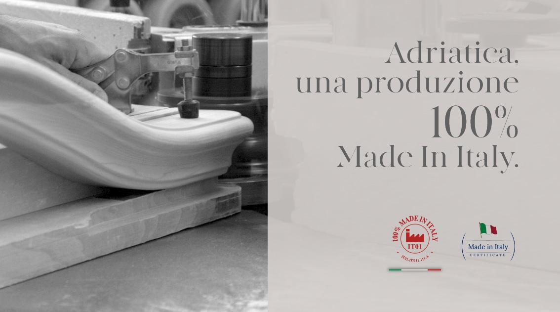 Adriatica, una produzione 100% Made in Italy